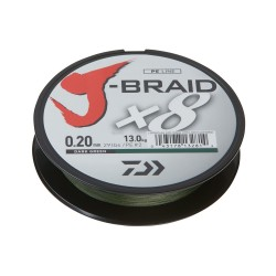 Daiwa J-Braid  X8  Braided Line Dark Green 300m