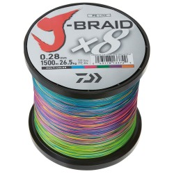 Daiwa J-Braid Braided Line 1500m Multicolour