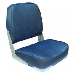 Boat Seat with New  Clamp and Swivel (Blue)