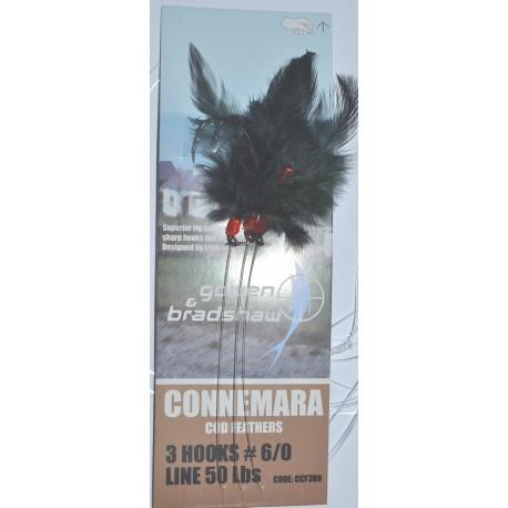 Gowen and Bradshaw Connemara 3hk Black Cod Pollack Feathers 6/0 henrys