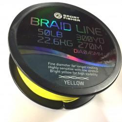 Masterline Sportfisher Braid Yellow 300yds