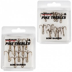 Kamasan Pike Trebles Semi Barbed Hooks