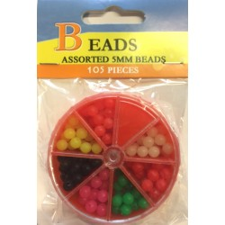 Assorted 5mm Beads in Dispenser