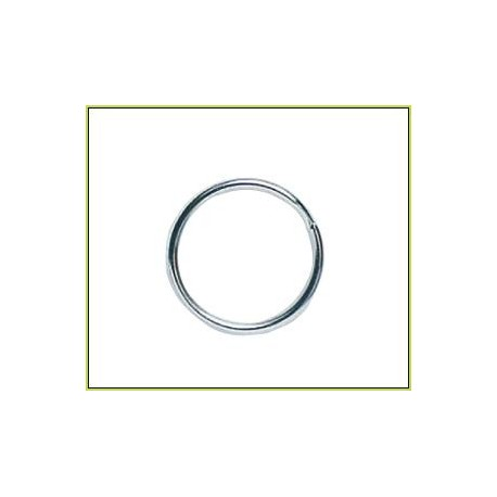 Mustad Round Nickel Split Rings henrys