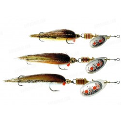 Mepps Aglia TW Streamer Silver Red Spot Brown Stream no 1