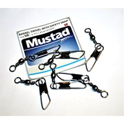 Mustad Barrel Swivel With Safety Snap