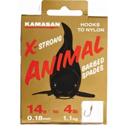 Kamasan X-Strong Animal Hooks To Nylon Barbed Spade
