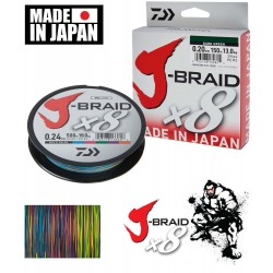 Daiwa J-Braid X8 Braided Line Multicolour 300m