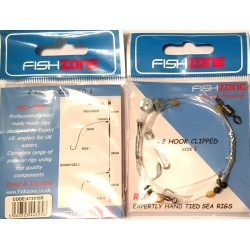 Fishzone Rig Pro Clipped 2 Hook Beach Rigs