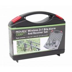 Rovex Wireless 2+1 Bite Alarm and Receiver Set