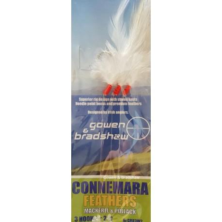 Gowen and Bradshaw Connemara Mackerel feather White 3hk 2/0 henrys