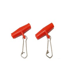 Red Zip Slider Booms 2 Pack