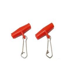 Red Zip Slider Booms 2 Pack