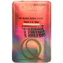 Quantum Hi Strength Round Eye Double Rolling Swivels