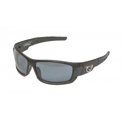 Mustad Hank Parker Polarized Sunglasses Black Frame Smoke Lens