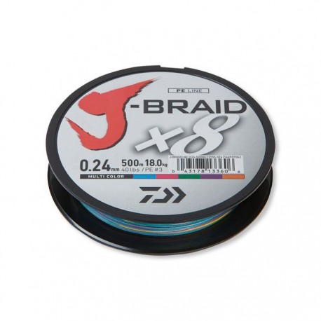 Daiwa J-Braid X8 Multicolour150m