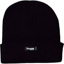 3M Thinsulate Fleece Lined Knitted Beanie Black