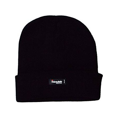 3M Thinsulate Fleece Lined Knitted Beanie Black henrys