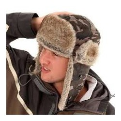Deluxe Camo Trapper Hat Fur Lined