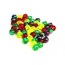 Shimmer Beads Assorted Colours 6mm