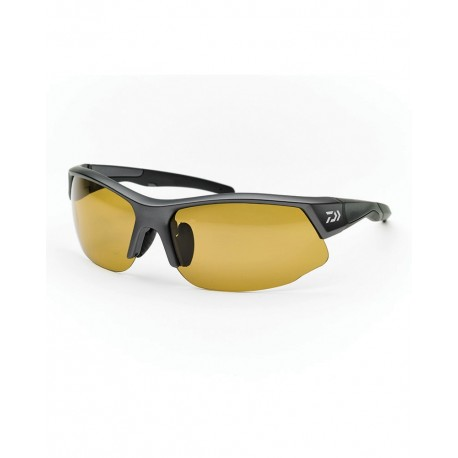 Daiwa Polarised Sunglasses Yellow Lens Grey Frame henrys