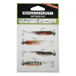 Cormoran Soft Shad Set 7cm S Nature 01