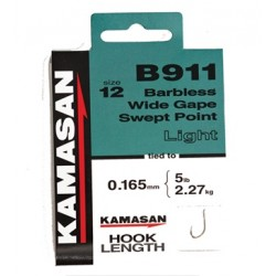 Kamasan B911 Hooks To Nylon BARBLESS