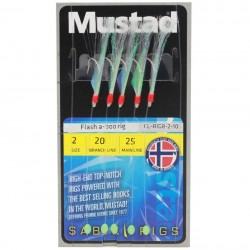 Mustad Flashaboo 5 hook Mackerel Rig