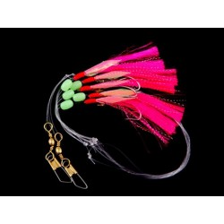 Gowen  and Bradshaw Saltwater Pink  5 Hook Flasher Rig 3/0