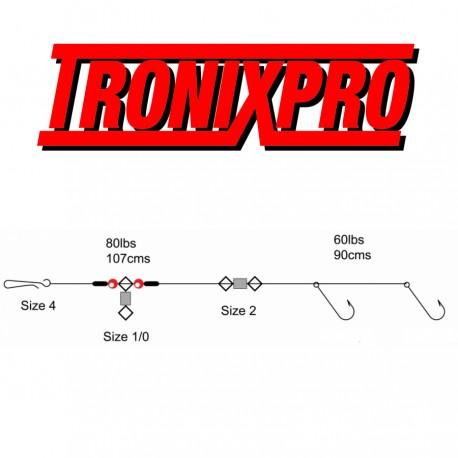 Tronix Pro Pulley Pennel Rig 2 Hook henrys