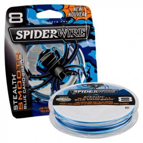 Spiderwire Stealth Smooth 8 Braid - Blue Camo henrys