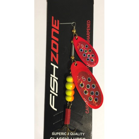 Fishzone Dice Twin Blade Spinner Red Baron henrys