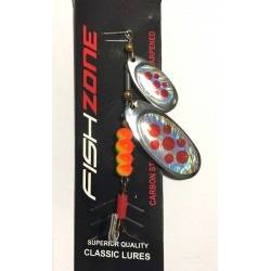 Fishzone Dice Twin Blade Spinner Double Dodger