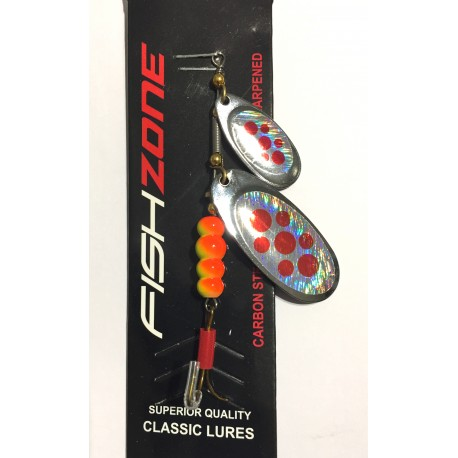 Fishzone Dice Twin Blade Spinner Double Dodger henrys