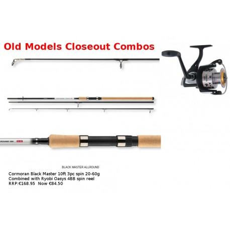 Half Price Cormoran 3 Pc Spin Rod & Ryobi Oasys Reel henrys
