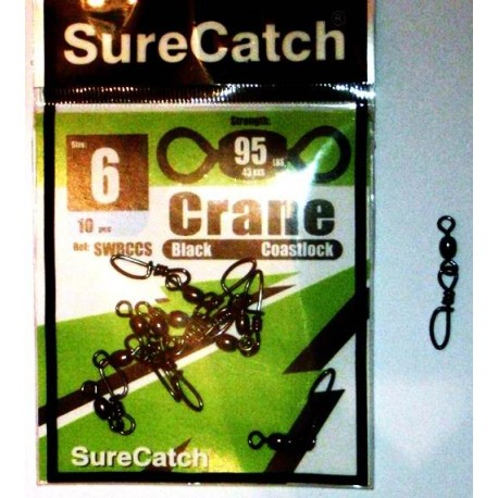 Surecatch Coastlock Swivels size 6 henrys