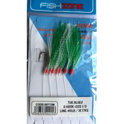 Fishzone The Blues Green Mackerel feather