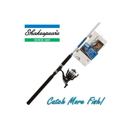 Shakespeare Catch More Fish 2 Combo 8ft Tele Spin 20-60g henrys