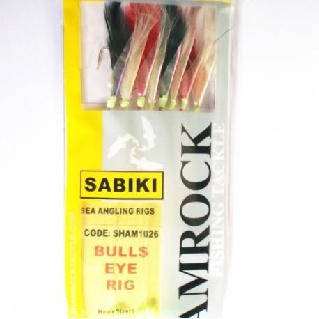 Shamrock Bullseye Multicolour Rig 8 hooks henrys