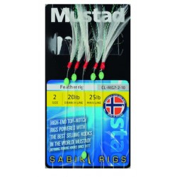 Mustad White Feather Sabiki Rig CL7