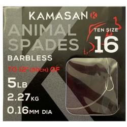Kamasan Animal Spades Hooks To Nylon BARBLESS