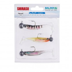 Ballzer Holo Perch Paddle Tail Shad Set 7cm