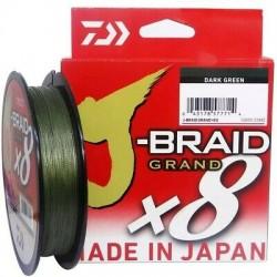 Daiwa J-Braid  X8  GRAND Braided Line Dark Green 300m