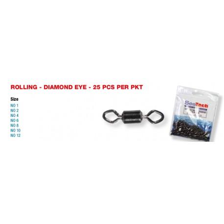 Seatech Diamond Eye Rolling Swivels Value Packs henrys