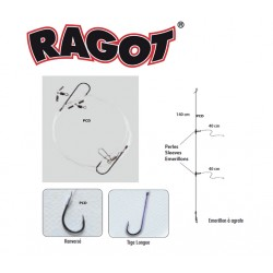Ragot 2 Hook Flaper Trace 1/0