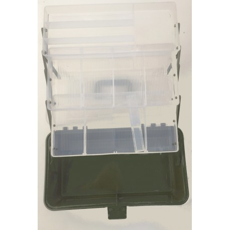 Kinetic 3 Tray Cantilever Large Division Tackle Boxes henrys