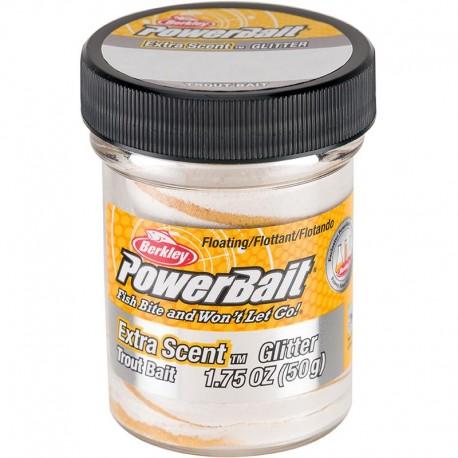 Berkley Powerbait Glitter Trout Bait White henrys