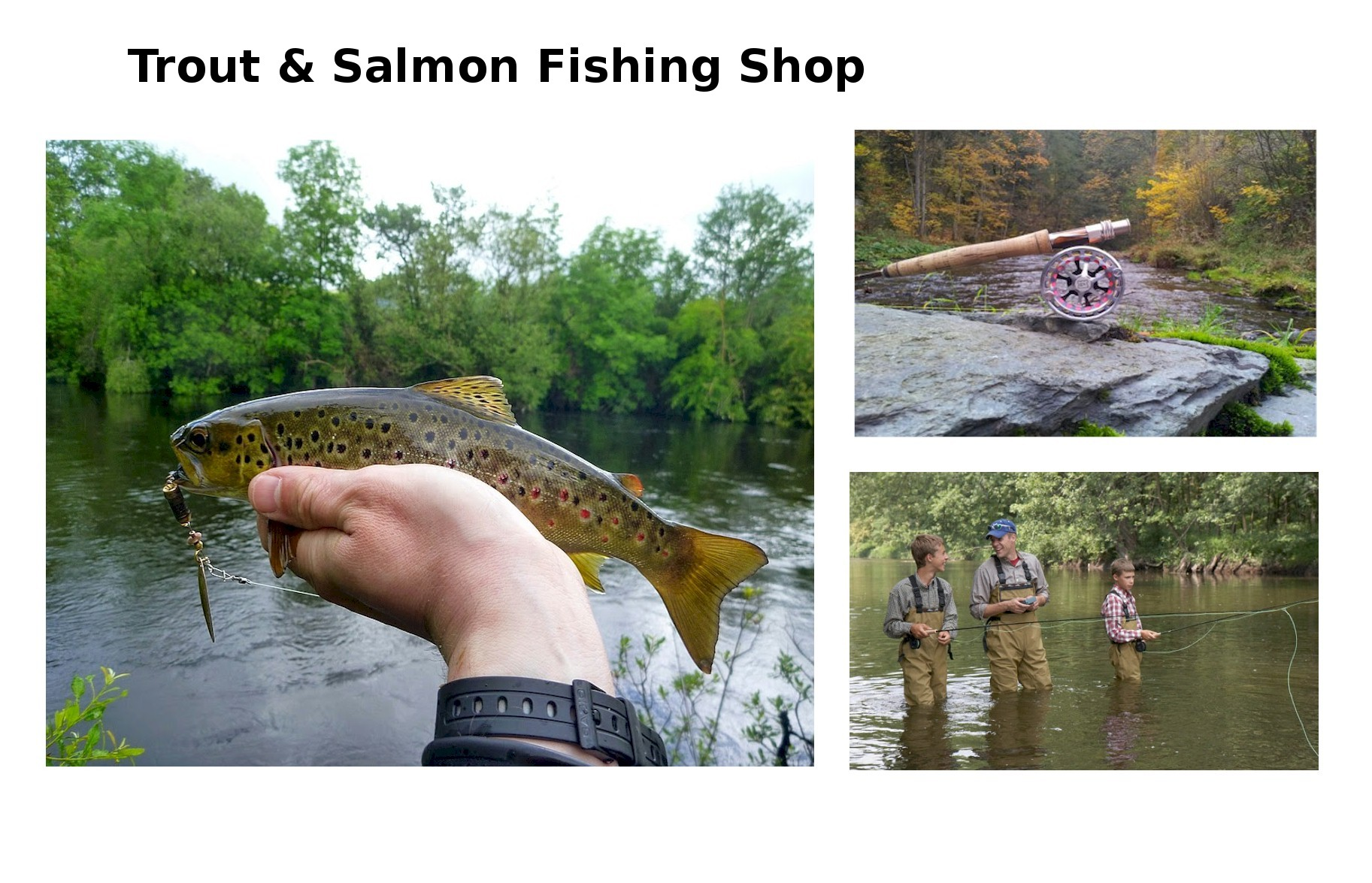 Trout & Salmon Fishing Shop home
