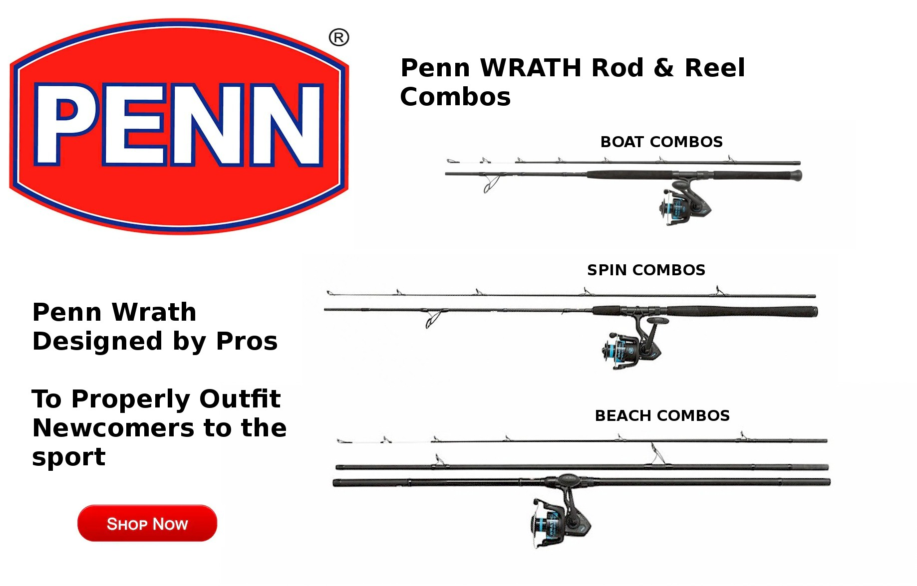 Penn Wrath Rod & Reel Combos home