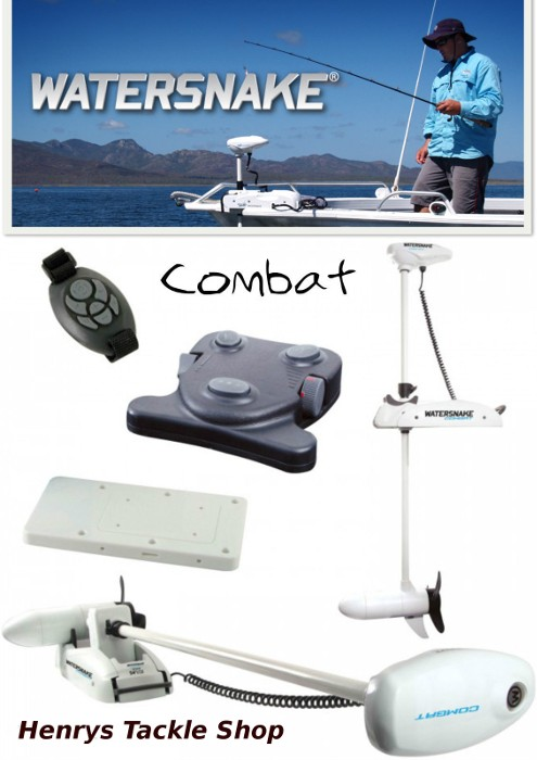 Watersnake Combat Saltwater Remote Bow Mount Electric Motor
